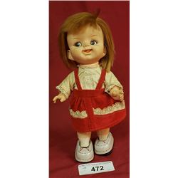 Vintage Tin And Plastic Walking Doll