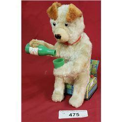 Vintage Battery Operated Bear Drinking Milk