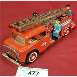 Tin Friction Fire Truck
