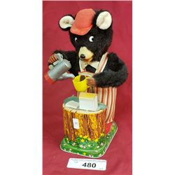 Battery Operated Tin Bear
