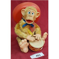 Battery Operated Drumming Monkey