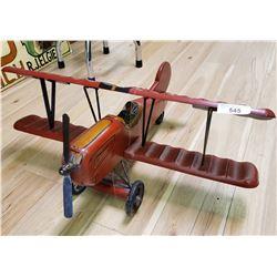 Wooden Bi Plane Model