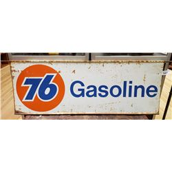 76 Gasoline Sign Steel Double Sided