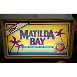 Matilda Bay Wine Coolers, Light Up Sign