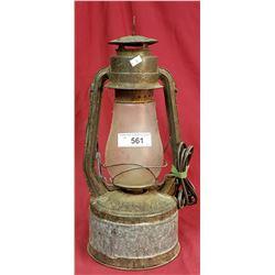 Vintage Tornado Barn Lantern Electrified
