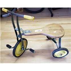 Vintage Wooden And Steel Tricycle