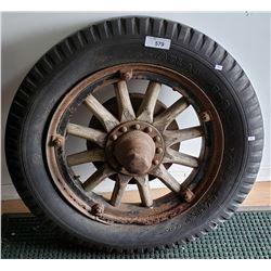 Early Wood Spoked Wheel Model A