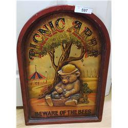 Plaque Of Bear