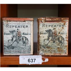 Pair Of Reapter Tins