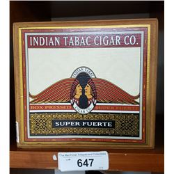 Indian Tabacco Cigar Box