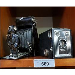 Pair Of Early Cameras