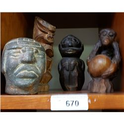 4 Early African Carvings