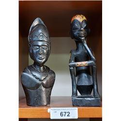 Pair Of African Carvings
