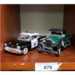 Diecast Police Car And Hubley Truck