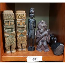 Group Of 5 African Carvings