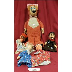 Yogi Bear And 4 Puppets