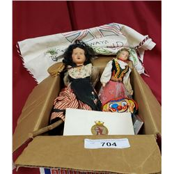 Box Of Dolls And Toys