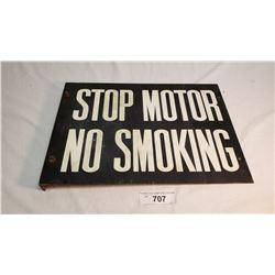 Stop Motor No Smoking Flange