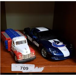 Die Cast Car, And Gas Truck