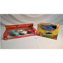 2 Sets Of Boxed Cars