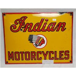 Porcelain Concaved Indian Motorcyles Sign