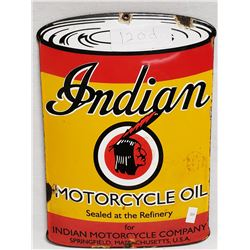 Indian Motorcyles Porcelain Sign Concaved