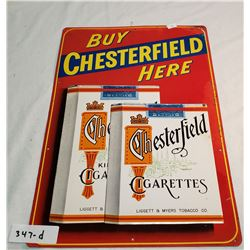 Vintage Tin Chesterfield Sign