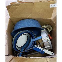 Box Of Kitchen Graniteware