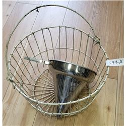 Wire Basket And Strainer