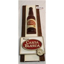 Hanging Vintage Beer Sign  Carta Blanca