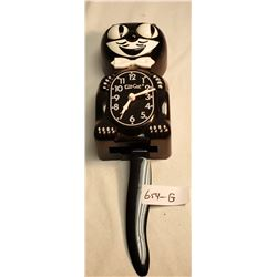 Plastic Black Cat Clock