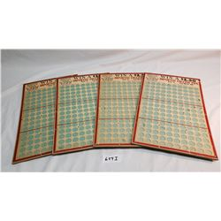 4 Vintage Punch Boards