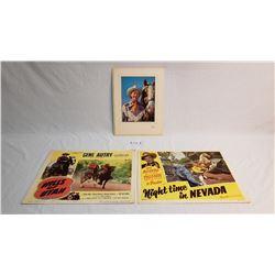Gene Autry, Ray Rogers, Lobby Cards