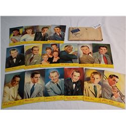 Package of 16 Victory Movie Stars Postcards