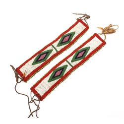 Sioux Native American Fully Beaded Arm Bands