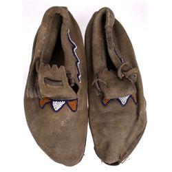 1800's Montana Blackfoot Beaded Moccasins