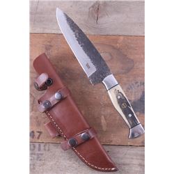 Montana Territory Knives Indian Chief Scrimshaw