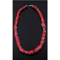 Navajo Coral and Turquoise Necklace
