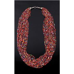 Plains Indian Bead Strand Necklace