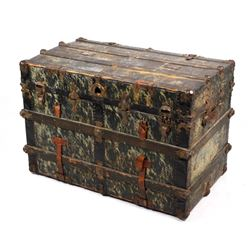 Mid 19th Century Steamer Travel Trunk