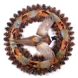 South Dakota Flying Pheasant Wreath Mount