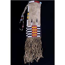 Cheyenne Beaded Buffalo Hide Pipe Bag c. 1890