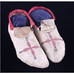Flathead Beaded Moccasins 19th Century