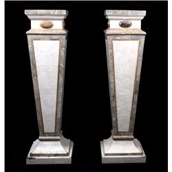 Polished Calcutta Marble Textured Finish Pedestals