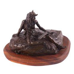 Bob Scriver The Lookout Bronze Sculpture 9/30