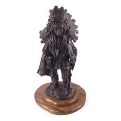 Blackfoot Chief Gary Schildt Bronze Sculpture