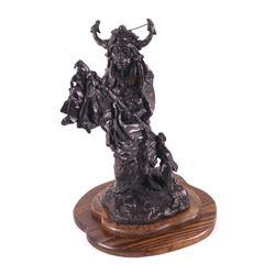 Blackfoot Medicine Man Schildt Bronze Sculpture