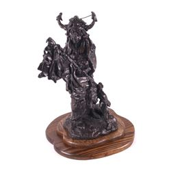 Blackfoot Medicine Man Schildt Bronze Sculpture