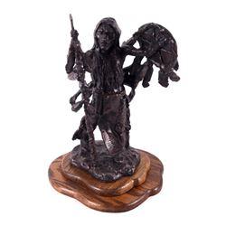 Blackfoot Warrior Gary Schildt Bronze Sculpture