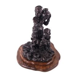 Blackfoot Mother & Child Schildt Bronze Sculpture